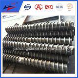 鉱山の石炭コンベヤのための鋼鉄螺線形のローラーリターン螺線形のローラーのクリーニングのローラー