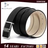 Kundenspezifischer Firmenzeichen-Metallfaltenbildung-Entwurfs-echte Rindleder-Leder-Mann-Riemen