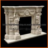 Mensola del camino di marmo naturale Mf1726 del camino delle statue di bordi del camino