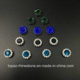 2017 новых 7mm кристаллический Rhinestones с установками когтя металла шьют на камнях вспомогательного оборудования кнопок причудливый платье (кристалл сини неба TP-7mm круглый)
