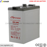 Lange Lebensdauer-nachladbare Gel-Batterie 2V800ah für UPS