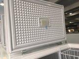 Un congelador del pecho de la puerta con capacidad de congelación 358L