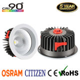 Ponto Recessed CRI90+ Downlight do teto do diodo emissor de luz da ESPIGA do cidadão 15With20With30With40With60W com excitador de Osram