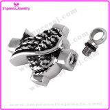 QuerEdelstahl-Verbrennung-hängende Halskette verascht Andenken-Urne