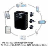 Doppel-USB-Portwand-Aufladeeinheit mit abnehmbarem wir Stecker