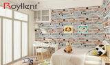 Het hete Verkopende 3D Vinyl Zelfklevende Behang van de Baksteen en van de Steen