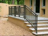 Frontière de sécurité enduite d'escalier de poudre faite sur commande simple moderne de qualité