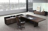 마호가니 색깔 가죽 실내 장식품 탁상용 광택 있는 사무실 책상 (HX-G0195)