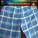 ヤーンによって染められるポリエステル小切手か縞によって編まれる衣服の織布