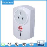 Z-Agitar enchufan el interruptor (CON./DESC.) con el contador de potencia