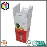 Caja de embalaje rápida barata del papel acanalado de la parte inferior del bloqueo