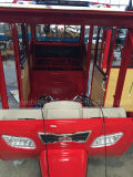 Трицикл пассажира красного цвета с двигателем 150cc охлаженным воздухом