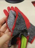 Ультра перчатки Кевлар нитрила пены Coated с TPR
