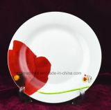 De ceramische Ceramische Schotels van de Plaat van het Diner van de Plaat van het Porselein van de Voorraad van de Schotels van de Plaat In het groot Ceramische Witte