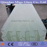 超明確で低い鉄によって和らげられる模造された太陽ガラス(C端)