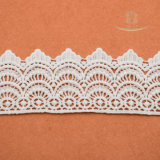 女性のブラまたは女性Dress Decorationsのための白い花パターンオーストリアのレースを非伸ばしなさい