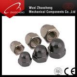 Pente 4 d'acier du carbone écrou borgne plaqué noir nickelé de dôme de l'hexagone 6 8 10 12 DIN1587