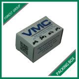 Caixa de cartão ondulado cúbica branca com impressão feita sob encomenda