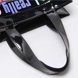 Bolso de compras impermeable del PVC del negro Loverly de los modelos (H031)