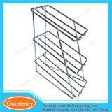 3 Reihe-Großhandelsmetalldraht-bearbeitetes Eisen-Kostenzähler-Bildschirmanzeige-Zahnstangen-Standplatz für Einzelverkauf