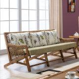 Sofa d'intérieur extérieur B02-3 de Trois-Portée de jardin en osier de rotin de meubles de loisirs