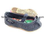 Zapatos preciosa niña del bebé lona Slip-en los zapatos calzado (FFBB1230-03)