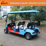Carro de golf eléctrico de 4 Seater usado en el parque, coche eléctrico del hotel de 4 ruedas, coche eléctrico usado en jardín