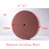 "6 ""X1"" 6p Wire Drawing Tuck Point Abrasive Non Woven Polishing"