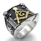2017 anelli massonici del nuovo di disegno anello di titanio dell'incisione