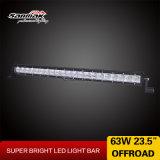 23.5 '' barre simple simple d'éclairage LED du CREE 63W DEL de rangée pour tous terrains