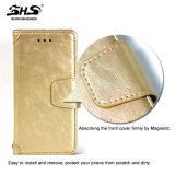 Caixa do telefone do couro da ranhura para cartão da carteira de Shs para Samsung S7