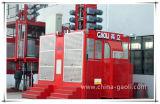 Grua dobro de alta velocidade Sc200/200 do edifício da construção da gaiola de Gaoli 2000kg