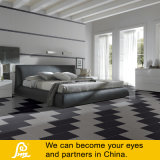 Reine weiße und graue glasig-glänzende Porzellan-Fliese für Wand und Fußboden