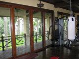 Puerta deslizante compuesta de madera revestida de aluminio