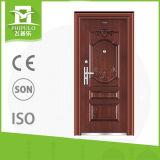 Puerta de entrada de acero de gran tamaño de puerta del nuevo diseño para el mercado del Brasil