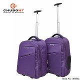Chubont単一のトロリーが付いている紫色カラーバックパック