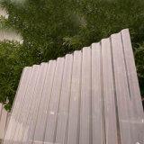 Feuille enduite de toiture de construction de GE Lexan de couleur ondulée claire de matériaux