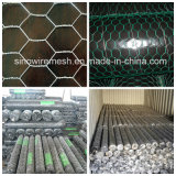 농장 담을%s PVC에 의하여 입히는 6각형 철사 그물세공 또는 6각형 철사 그물세공