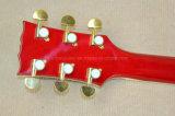 Musique de Hanhai/guitare électrique rayon de soleil 335 de cerise avec le matériel d'or