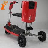 """Vermelho esperto da forma do fabricante de China que dobra o """"trotinette"""" elétrico de três rodas"""