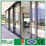 Portão deslizante de alumínio padrão australiano com vidro temperado claro Pnoc005