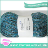 Os tipos Knit robusto do fio Textured o fio do Glitter da tira