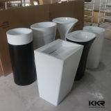 Lavabo de marbre blanc de piédestal de Kingkonree utilisé pour la salle de bains (B1609285)