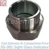 Pression en verre de vue d'acier inoxydable d'ajustage de précision de pipe