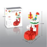 14889111マイクロブロックキットのクリスマスシリーズブロックは創造的な教育DIYのおもちゃ150PCS -ブート--をセットした