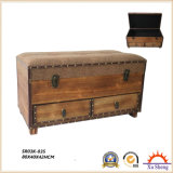 Antique Furniture Accent Nesting Wooden Gift Storage Box Natural Finish