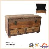 Акцент античной мебели гнездясь деревянная отделка коробки хранения подарка естественная