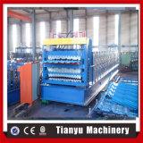 Drei-Schicht Metalldach-Panel-Rolle, die Maschine herstellend sich bildet