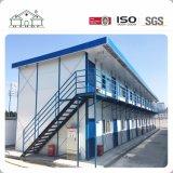 Casa prefabricada del marco de acero de 2 suelos para la oficina de trabajo temporal