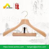 Ganci di legno personalizzati del vestito con l'amo dorato (WDCC300)